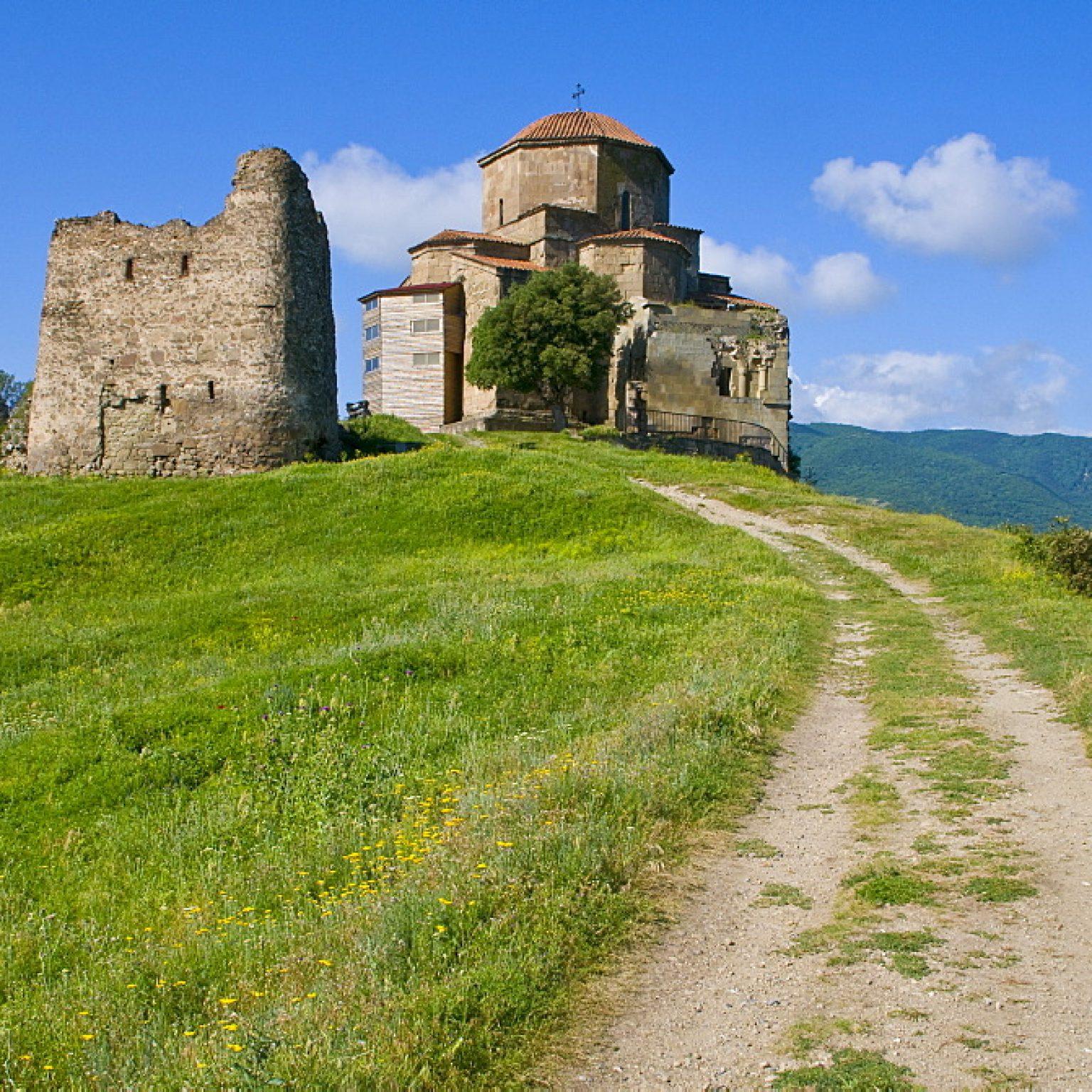 The church of Jvari, Mtskheta, UNESCO World Heritage Site, Georgia, Caucasus, Central Asia, Asia